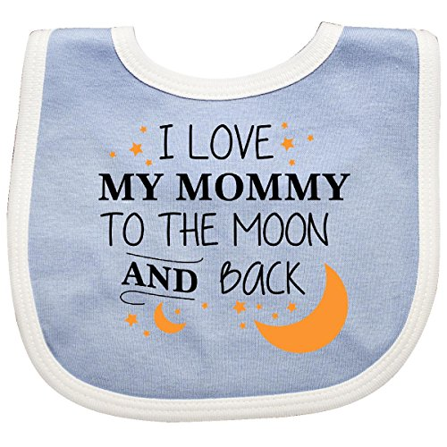 Inktastic - I Love My Mommy To The Moon and Back Baby Bib Blue/White 29673