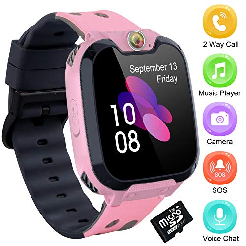 Kids Smart Watch Phone Mp3 Music Player for Children Recorder Alarm 1.54 inch HD Screen Phone with Call Camera Dial Games Smartwatch for Boy Girl Christmas Birthday Gifts Compatible Android iOS