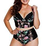 Karoleda Bikini Set Two Pieces Women Plus Size Sexy Print Swimwear Brazilian Beachwear Swimsuit Black