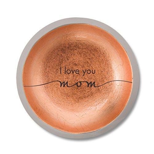 - Pavilion Gift Company 42124 I Love You Mom Cement Keepsake Dish, 5