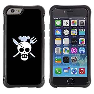 King Case@ Funny Skull Chef Death Rugged hybrid Protection Impact Case Cover For iphone 6 6S CASE Cover ,iphone 6 4.7 case,iphone 6 cover ,Cases for iphone 6S 4.7