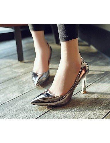 ShangYi Damenschuhe - High Heels - Hochzeit / Büro / Party & Festivität - Lackleder - Stöckelabsatz - Absätze / Spitzschuh / Modische Stiefel - , golden-us8 / eu39 / uk6 / cn39 , golden-us8 / eu39 / u