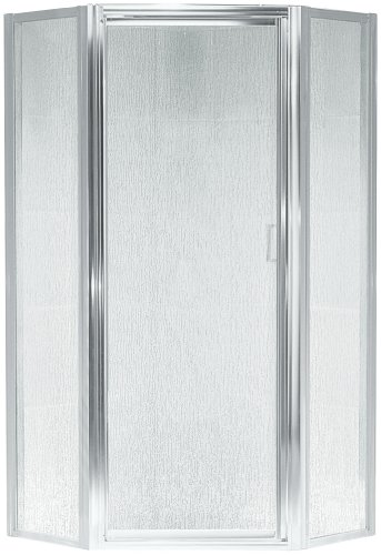 Neo Shower Doors (Sterling SP2276A-38S Intrigue Neo-Angle Shower Door, Silver with Rain Glass Texture)
