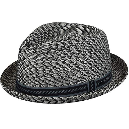 Bailey of Hollywood Men's Mannes Braided Trilby Hat, Charcoal/Multi (X-Large) ()