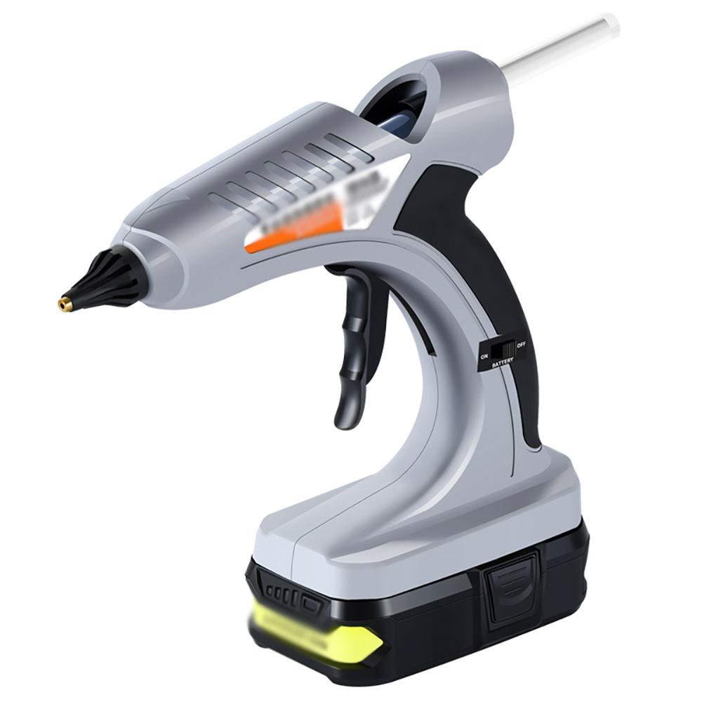 Hot Melt Glue Gun/Electric Hot Melt Glue Gun, Aluminum Alloy Nozzle Manual Universal Household Diy-Desktop,Grey