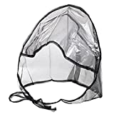Rain Bonnet With Full Cut Visor & Netting - Black (48)