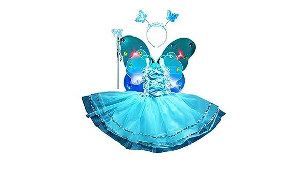 Amosfun 4 Piezas Disfraz de Mariposa de Niñas Alas de Mariposa ...