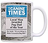 A funny Christmas gift or birthday gift for a Pug lover. This traditional 11 ounce white ceramic coffee mug is perfect for any hot beverage. Wide mouth and large C-handle allow for easy, every day use. Whether drinking your morning coffee at ...