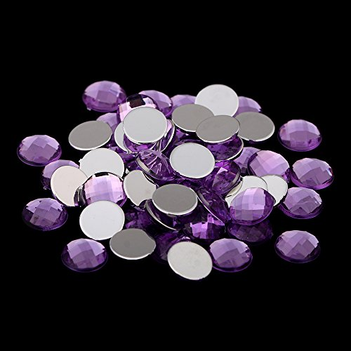 Round Earth Facetsd Many Colors And Many Size Acrylic Flatback Craft Art DIY Gems Rhinestone Strass High Shine Nail Stones 07 light purple 10mm 50PCS ()