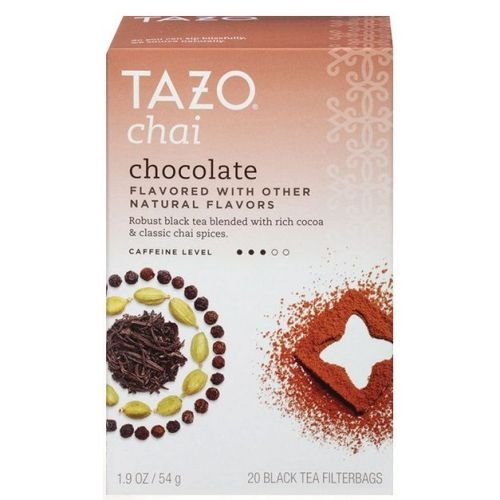 Chocolate Kosher Tea - Tazo Chai Chocolate Black Tea - 20 bags per pack - 6 packs per case.