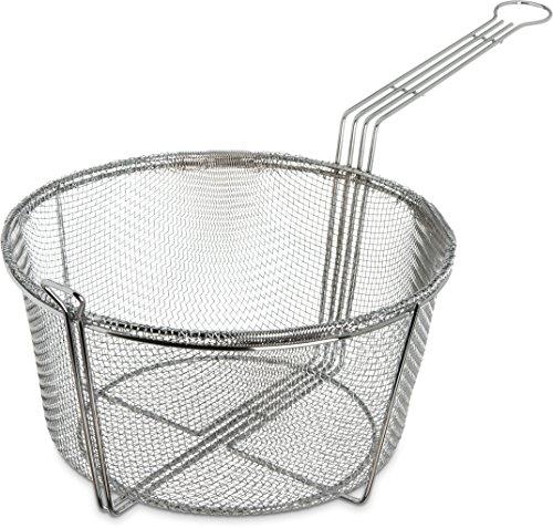 Carlisle 601002 Chrome Plated Steel Mesh Fryer Basket, 11.25