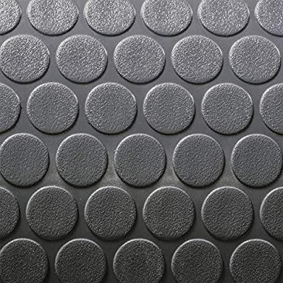 """8' 6"""" Wide Coin Pattern RV Flooring Grey- 20 Foot Section"""