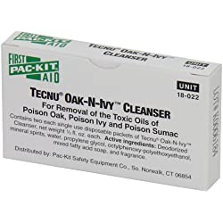 Pac-Kit by First Aid Only 18-022 Tecnu OAK-N-IVY Cleanser Packet (Box of 2)