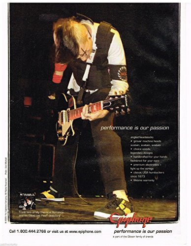 Price comparison product image Epiphone - My Chemical Romance - Frank Iero - 2005 Print Advertisement