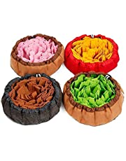 JJSFJH Dog Puzzle Toys Pet Snuffle Feeding Mat, Interactive Game for Boredom, Encourages Natural Foraging Skills (Color : Pink)