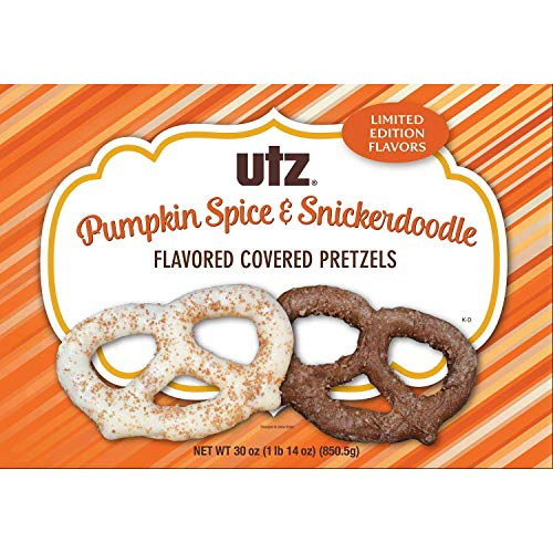 Utz Pretzels - Utz Pumpkin Spice & Snickerdoodle Flavored Covered Pretzels LIMITED EDITION