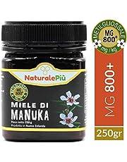 Miel de Manuka 800+ MGO 250 gr | Produit en Nouvelle-Zélande. Actif et brut, 100 % pur et naturel | Méthylglyoxal testé |