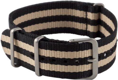 180 18mm Nylon Black Watch Strap (Ribbon Band Fashion Watch)