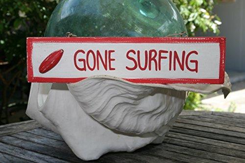 TikiMaster GONE SURFING NAUTICAL SIGN 12