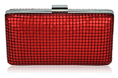 Red Gorgeous Gorgeous DELIVERY FREE Case Red Hard Clutch UK Clutch UK FREE Evening Case Hard Evening wxqf8Cp