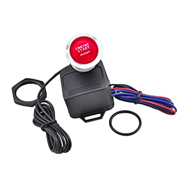 Funnyrunstore Portable 12V Car Universal Motor Start Button Push Switch Encendido Starter Kit One Key To Start Car Refit Accesorio (Color: negro): ...