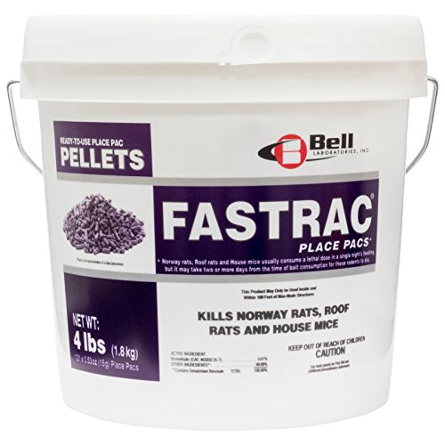 Fast Acting Rodent Rat Mouse Pellet Bait Rat Mouse Killer 121 Fastrac Place Pacs by Bell Labs