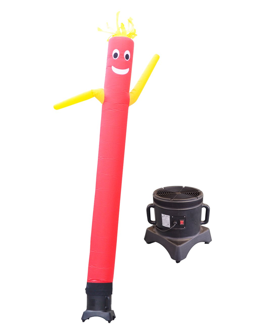 10-Feet LookOurWay Air Dancers Inflatable Tube Man Complete Set with 1//2 HP Weather-Resistant Sky Dancer Blower Red with Yellow Arms