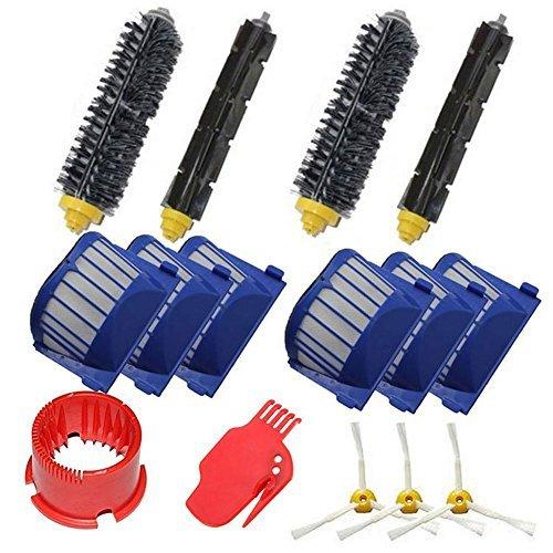 LOVE(TM)3 Side Brush 2 Bristle Brush 2 Flexible Beater Brush 2 cleaning Tools For Robot 600 All Series 610 620 625 630 650 655 660