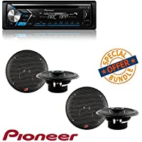 CD Receiver w/ Android and IPhone Compatibility Built in Bluetooth W/ Two Pairs Cerwin-Vega XED62 300W 6.5 2-Way Coaxial Speakers