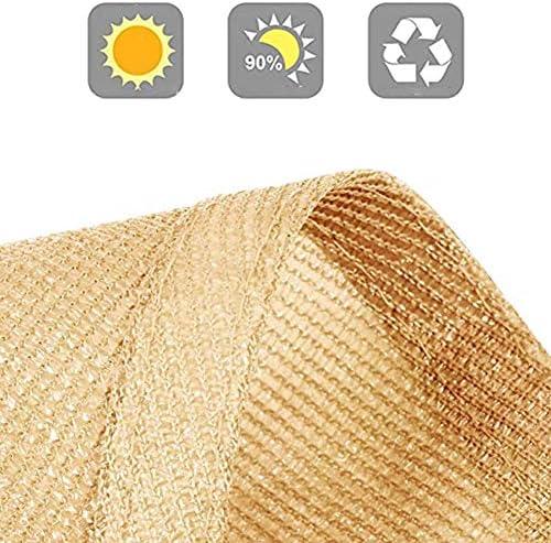 LSXIAO Sunshadingネット屋外パティオアンチUVシェード布通気性の生地カットソーしっかり換気 (Color : Beige, Size : 12'x12')