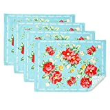 The Pioneer Woman Vintage Floral Design Placemat Set of 4, Reversible