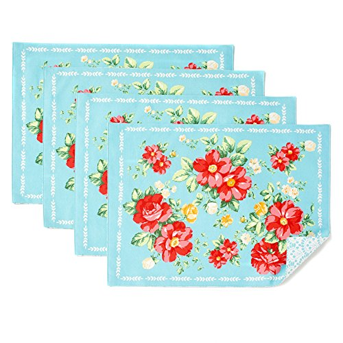 The Pioneer Woman Vintage Floral Design Placemat Set of 4, Reversible by Pioneer Woman (Image #3)