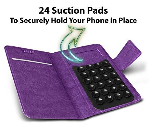 N4U Online® - Apple Iphone 3G 3GS Violet PU aspiration en cuir Pad Wallet Case Cover & Mini Stylet