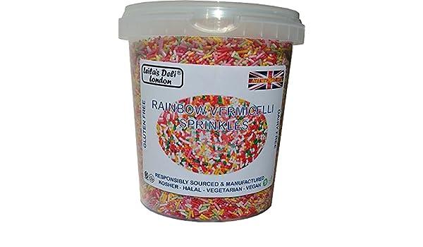 Leilas Deli, Fideos colores, Arco iris asperja, Hilos de azúcar vermicelli (1 x 600g): Amazon.es: Alimentación y bebidas