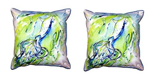 Pair of Betsy Drake Calamari Large Pillows 18 Inch X 18 Inch price