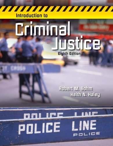INTRODUCTION TO CRIMINAL JUSTICE by Brand: McGraw-Hill Humanities/Social Sciences/Languages