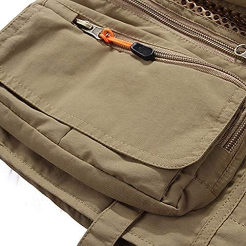 フィッシングベスト 夏のチョッキ男マルチポケット屋外の男のベストカジュアル写真釣りベスト大きいサイズショルダーコート薄いです (Color : Gray, Size : L)