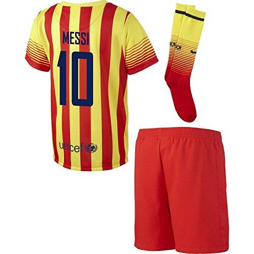 現実なに強風MESSI #10 Barcelona Toddler Away Mini-Kit set/サッカー ユニフォームセット FCバルセロナ アウェイ用 メッシ 背番号10