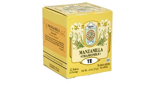 Amazon.com : Tadin Tea, Manzanilla (Chamomile) Tea, 12-Count ...