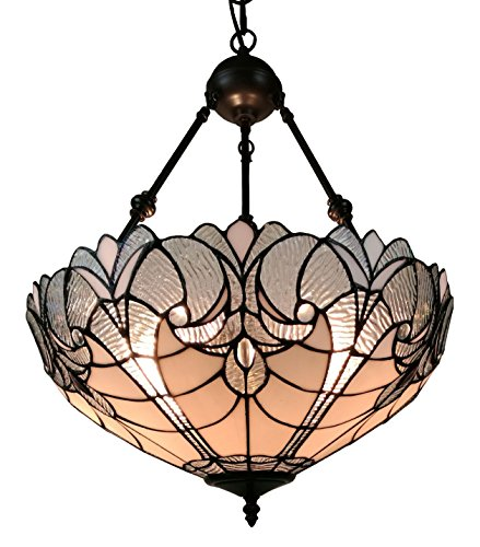 (Amora Lighting AM263HL18 Tiffany Style Hanging Pendant Chandelier Lamp 18 inched Wide)
