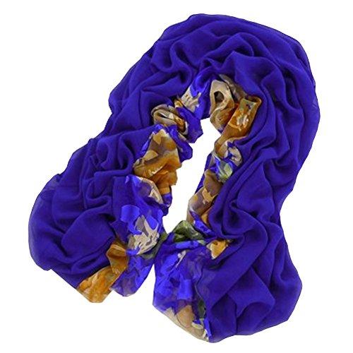 Femmes élégante écharpe Foulards souple Châle envelopper confortable, bleu foncé