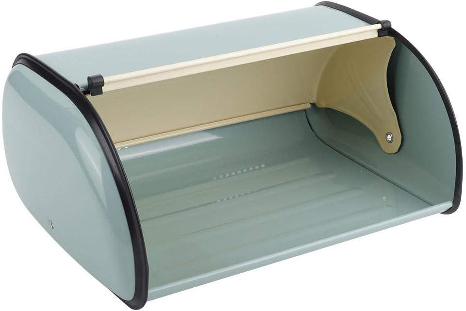 Organizador de almacenamiento de contenedores de soporte de caja de pan de metal Vobor para cocina Azul