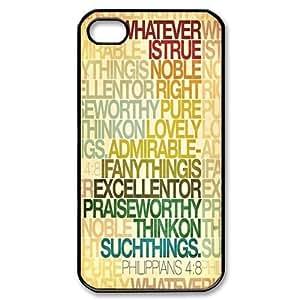 Custombox Bible Verse Iphone 4/4s Case Plastic Hard Phone Case for Iphone 4/4s-iPhone 4-DF02020