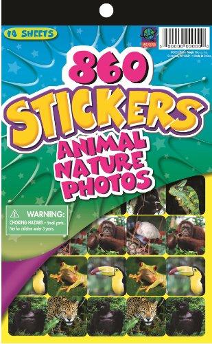 Eureka Educational Wild Animal Stickers for Kids, 10'' H
