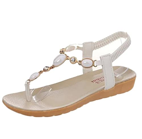 3be63aaa815 cnWay Summer new bohemian flat sandals diamond shoes sandals women s casual  peep-toe flat buckle shoes Roman summer sandals Women s Sandals Shoes Ankle  ...