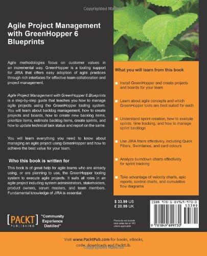 agile project management with greenhopper 6 blueprints malik jaibeer