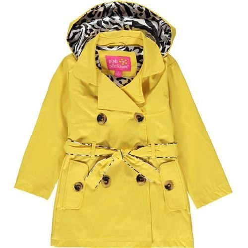 pink platinum trench rain jacket - 2