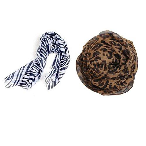 JOVANA Large Long Leopard Zebra Print Animal Scarf Elegant Shawl