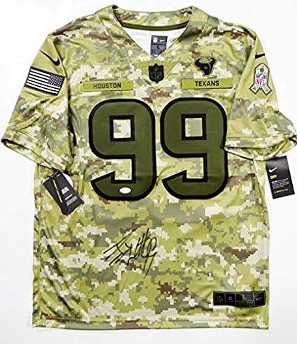 online retailer 35022 624d6 Autographed J.J. Watt Jersey - JJ Nike Salute to Service W ...