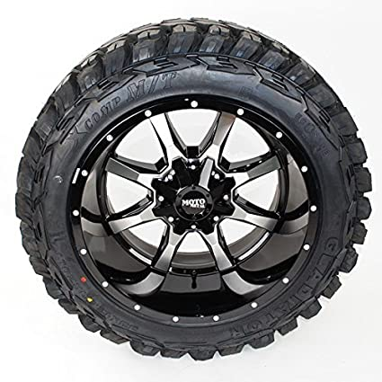 Off Road Rims And Tires Package >> Amazon Com Wheel Tire Package 20x12 Moto Metal Mo970 Black